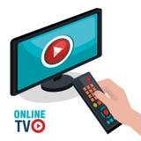 TV live stream Stock Photo