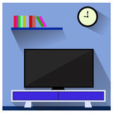 TV in the living room Stock Image