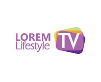 TV Logo Design Concept Royalty Free Stock Images