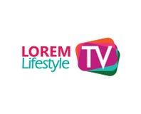 TV Logo Design Concept Royalty Free Stock Photos