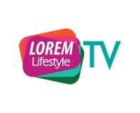 TV Logo Design Concept Royalty Free Stock Photo