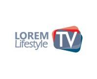 TV Logo Design Concept Stock Photography