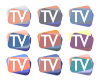 TV Logo Design Set illustration libre de droits