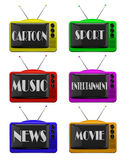 Tv logo set Stock Photos