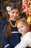 Två lyckliga systrar Fotografering för Bildbyråer