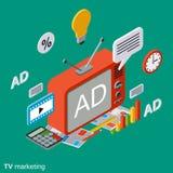 TV marketing, advertisement vector concept Stock Photo