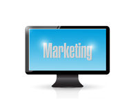 Tv marketing illustration design Stock Image