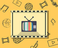 TV marketing shopping sale flat. Creative collection. Royalty Free Stock Photo