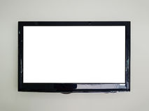 TV menée sur le fond de mur Photographie stock