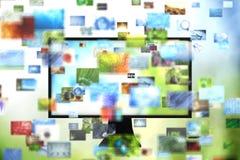 TV met beelden Royalty-vrije Stock Afbeeldingen