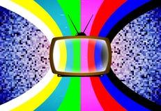 TV met gestileerde kleurenlijst Royalty-vrije Stock Afbeelding
