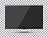 TV, modern blank screen lcd, led, on isolate background, stylish  illustration EPS10 Royalty Free Stock Image