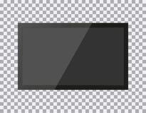 TV, modern blank screen lcd, led, on isolate background, stylish  illustration EPS10 Stock Photography
