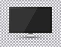 TV, modern blank screen lcd, led, on isolate background, stylish  illustration EPS10 Stock Photos
