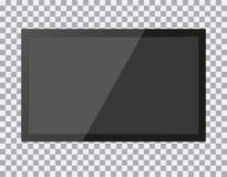 TV, modern blank screen lcd, led, on isolate background, stylish illustration EPS10. TV, modern blank screen lcd, led, on isolate background, stylish vector illustration