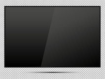 TV, modern blank screen lcd, led, on isolate background, stylish vector illustration EPS10. Stock Photography