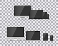 TV, modern blank screen lcd, led, on isolate background, stylish vector illustration EPS10. Stock Image