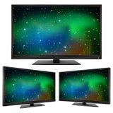 TV modern led monitor  on white background Royalty Free Stock Photo