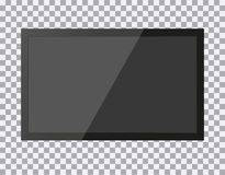 TV modern tom skärm lcd som ledas, på isolatbakgrund, den stilfulla illustrationen EPS10 vektor illustrationer