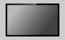 TV moderna con lo schermo in bianco isolato su fondo trasparente royalty illustrazione gratis