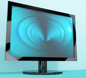 TV Monitor With Blue Vortex. Picture Representing High Definition Television Or HDTVs Royalty Free Stock Images