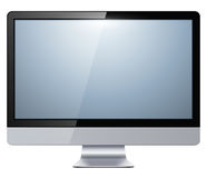 Tv monitor. Lcd tv monitor isolated, vector illustration Royalty Free Stock Photo