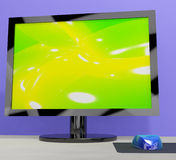 TV Monitor Representing High Definition Television Royalty Free Stock Photos