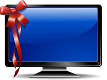TV Monitor Screen Gift. A TV Gift for Christmas, or S.Valentine, or a Birthday Royalty Free Stock Image
