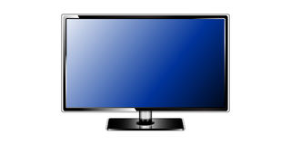 Tv monitor on white background Stock Images