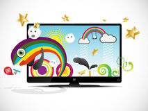 Tv monsters Royalty Free Stock Photo