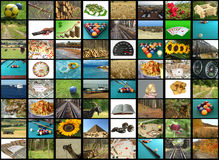 TV mosaic Stock Image