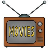 Tv Movies. An illustration of a television Royalty Free Stock Photo
