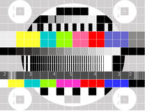 TV multicolor signal test pattern Stock Photos