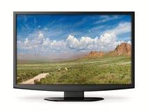 TV na biały tle ilustracji