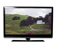 Tv with nature Royalty Free Stock Photography