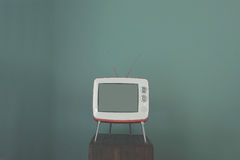 TV nella stanza Fotografie Stock Libere da Diritti