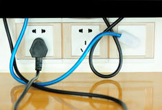 Tv network cable Stock Photo