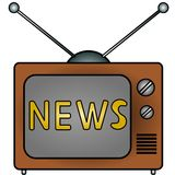 TV news. An illustration of a television Royalty Free Stock Photography