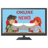 TV news anchors Royalty Free Stock Photos