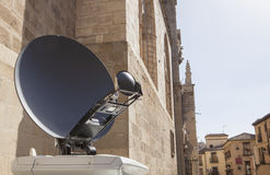 Tv news antenna truck detail Royalty Free Stock Photography