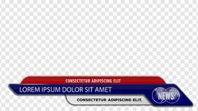 Tv news bars for Video headline title or lower third template. Vector illustration.  royalty free illustration