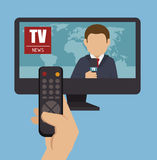 Tv news design Royalty Free Stock Photos
