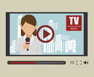 Tv news design. Illustration eps10 graphic Stock Photos