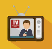 Tv news design. Illustration eps10 graphic Stock Photo