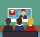 Tv news design. Illustration eps10 graphic Royalty Free Stock Photos