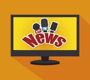 Tv news design Stock Image
