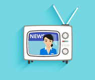 TV news Royalty Free Stock Photography