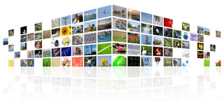 Tv news media internet. Digital background Royalty Free Stock Photo