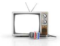 Tv news or reportage concept. Royalty Free Stock Image