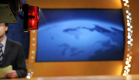 TV news studio Royalty Free Stock Photos